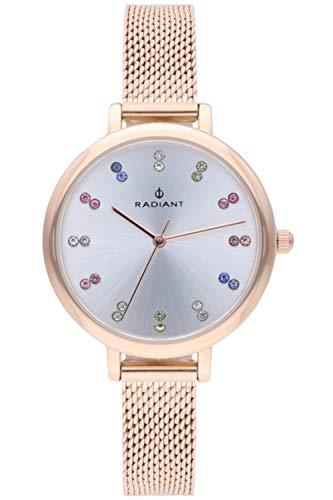 Radiant selene orologio Donna Analogico al Al quarzo con cinturino in Acciaio INOX placcato RA513602