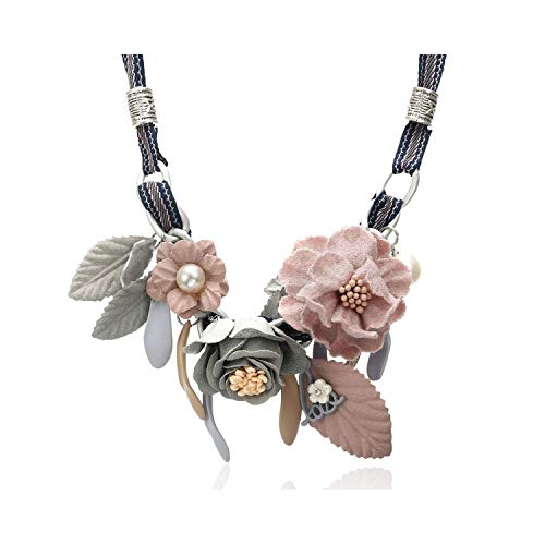 Styliee Modeschmuck, Anhänger Halskette, Necklaces & Pendants Women Statement/Flower/Vintage/Lady/Choker Necklaces for Women Neck Decoration Chocker SP567 PINK