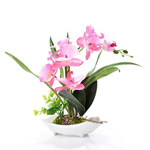 Künstliche Bonsai-Orchidee im Topf