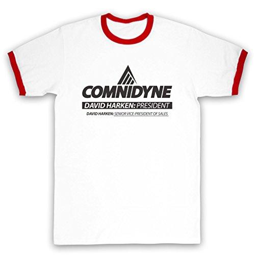Inspiriert durch Horrible Bosses Comnidyne Unofficial Kontrast / Ringer Shirt Weis & Rot
