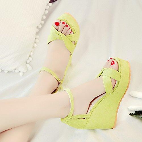 XY&GKWomen's Super Heels Heel Sandalen Sommer 39 green