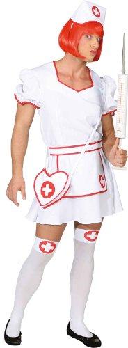 Männer Krankenschwester Kostüm - Orlob Krankenschwester Herren Kostüm zu Karneval Fasching Gr.58/60