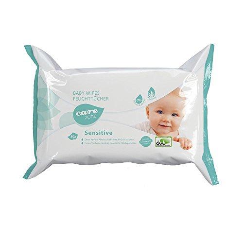 80 Care Zone Babywipes Sensitive, Babyfeuchttücher, Babytücher