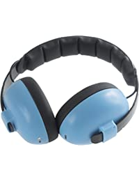 Banz Bluetooth Enabled Dual Purpose Baby Earmuffs with speakers - Blue