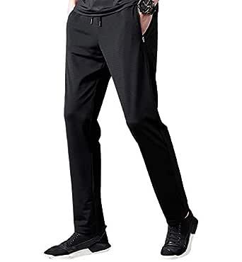 Lachi Pantaloni Uomo Sportivi Asciugatura Rapida Pantalone Tuta Casual Elastico Dritto per Corso Palestra Fitness