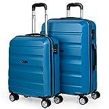 ITACA - T71600 Maletas Trolley 50/60 / 70 cm ABS Texturizado. Rígidas, Resistentes y Ligeras. Mango Telescópico, 4 Ruedas Dobles