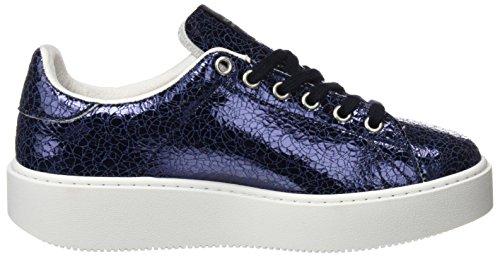 Victoria Deportivo Tejido Metalico, Sneakers Basses Mixte Adulte Bleu (Marino)