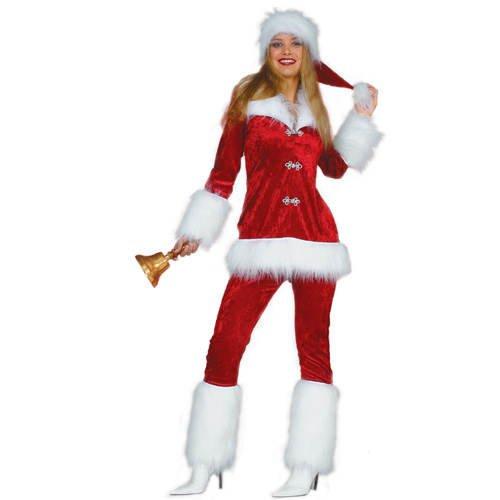 Damen-Kostüm Weihnachtsfrau Deluxe Gr. 38