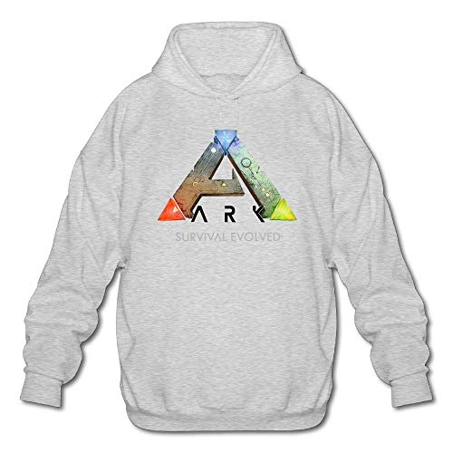 Herren Casual Cotton ARK Survival Evolved T-Shirt Langarm Rundhals Pullover Hoodie Sweatshirt Ash S Ash Pullover Hoodie
