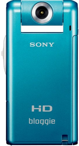 Sony MHS-PM5KL Bloggie Pocket-Camcorder (5 Megapixel, 6,1 cm (2,4 Zoll) LCD Farb-Display, 360 Grad Videoaufnahme) blau
