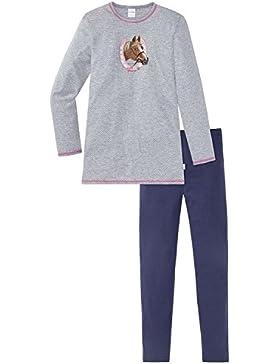 Schiesser Pferde Mädchen Schlafanzug Lang, Pigiama Bambina