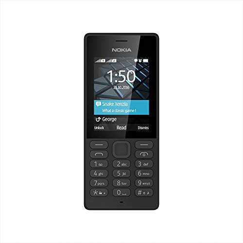 Nokia 150 Dual SIM Handy 6,1 cm (2,4 Zoll) Display, 0,3 MP Kamera, Radio, MP3-Player schwarz - Sim-handy-mp3