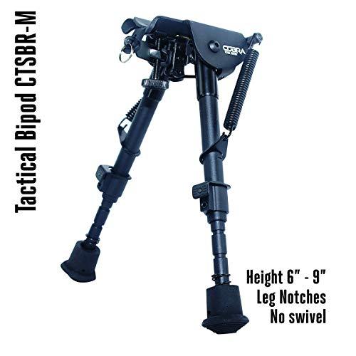 COBRA Tactical Solutions   Taktisches faltbares Zweibein/Bipod   Höhenverstellbar 15 – 23 cm   Für Airsoft Jagd Varmint Luftgewehr   wie Harris HBRM