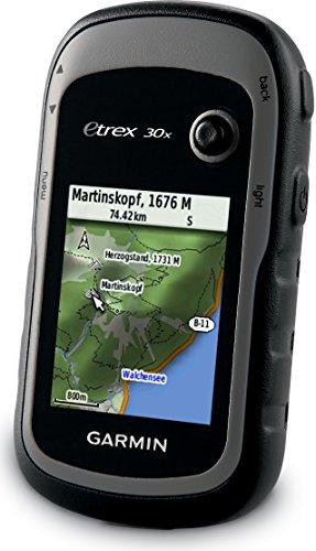 """Garmin eTrex 30x GPS Portatile, Schermo 2.2"""", Mappa TopoActive Europa Occidentale, Altimetro Barometrico, Bussola Elettronica, Grigio/Nero"""