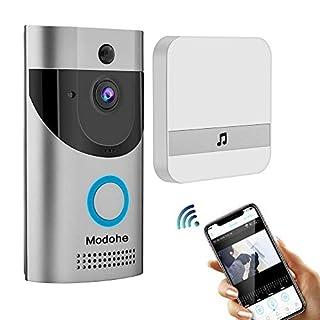 Modohe Wireless Doorbell 720P Video, HD COMS Sensor Two-Way Talk WiFi-Connected Doorbell