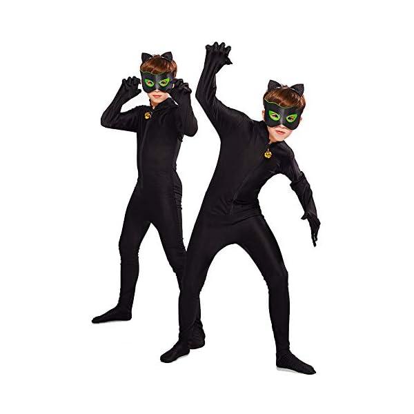 URAQT Ladybug Costume , Miracolosa Coccinella Ragazze, Costumi Cosplay di Carnevale e Halloween, Set 3 Pezzi Vestiti… 5 spesavip