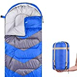 Sleeping Bag – Envelope Lightweight Portable, Waterproof, Comfort With Compression Sack, - Great