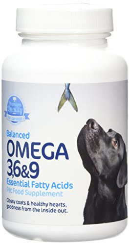 Imexa Balanced Omega 3, 6 and 9 Essential Fatty Acids Softgel Capsules for Dog 1000mg (Pack of 90)