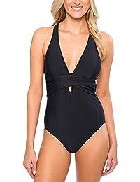 Mujeres Retro 50S Pin Up Halter Una Pieza Traje De Baño Bikini Beachwear