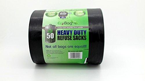 Eco Bag 50 resistenti sacchi per la spazzatura da 50 l
