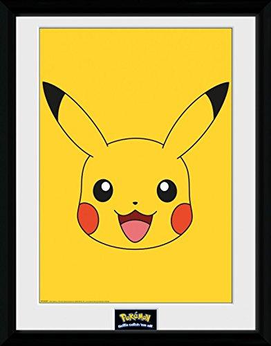 Pokemon-Pikachu-Pster-De-Coleccin-Enmarcado-40-x-30cm
