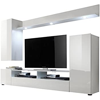 Luka modern set tv table entertainment unit tv - Wohnwand amazon ...