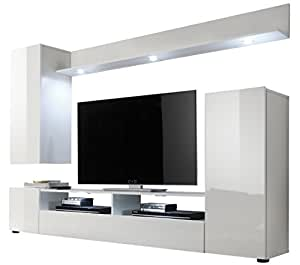 Furnline dos high gloss tv stand wall unit living room - Amazon wohnwand ...