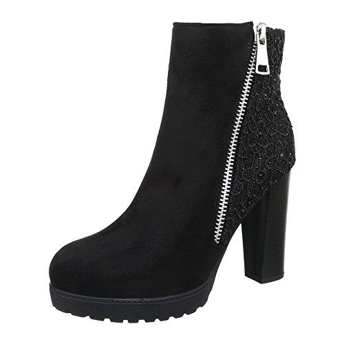 Damen Schuhe Strass Besetzte Schlupfstiefel Reißverschluss Klassische Stiefeletten Stiefeletten Pump