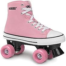 Roces Chuck Classic Roller - Patines de ruedas unisex, color rosa blanco, talla 41