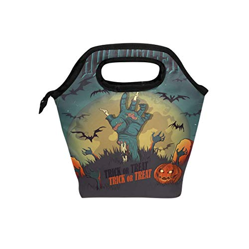 Halloween Party Zombie Isolierte Thermal Lunch Kühltasche Tote Bento Box Handtasche Lunchbox mit Reißverschluss für Schulbüro Picknick ()