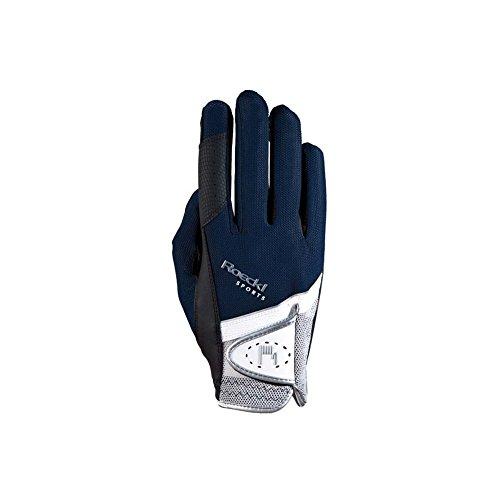 Roeckl Sports Handschuh Madrid, Unisex Reithandschuh, Marine, Größe 6,5