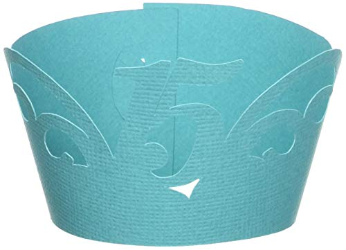 All About Details 15 Cupcake Wrappers,12pcs (Teal)