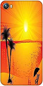 Snoogg summer background Designer Protective Back Case Cover For Micromax Canvas Fire 4 A107