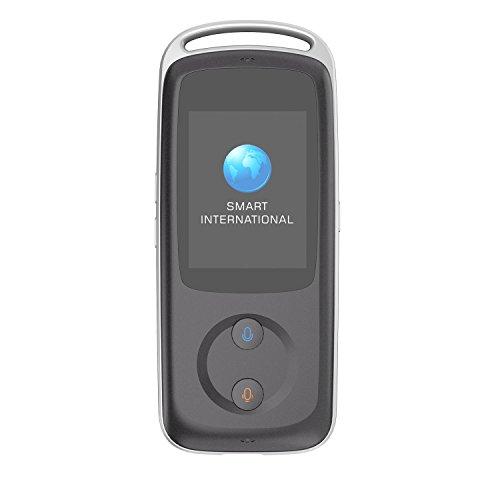 Traductor inteligente WiFi, portátil, inteligente dispositivo de translador multilingüe en tiempo real instantáneo inteligente translador de voz simultáneamente