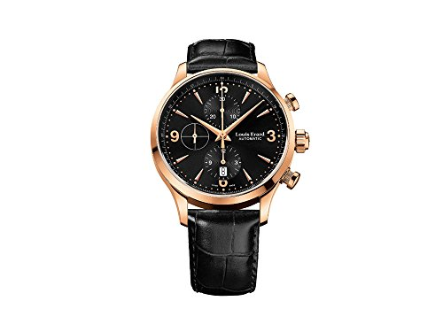 Montre Automatique Louis Erard 1931 Chrono, 42,5 mm, PVD, Noir, 78225PR12.BRC02