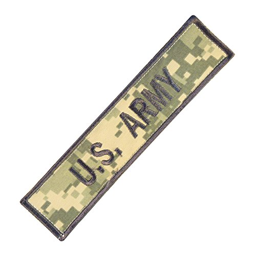 2AFTER1 US Army Name Tape ACU Morale Embroidery Milspec Combat Touch Fastener Patch -