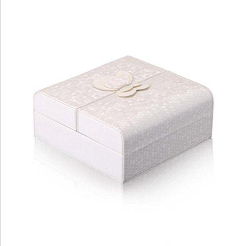ZXLIFE Cosmetic bag ® Fashion Joyero coreano Joyero de cuero Joyero nuevo Joyero cosmético , B