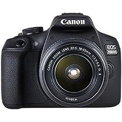 Canon EOS 2000D + EF-S 18 - 55 mm IS II Fotocamera Reflex, Nero