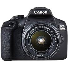 Canon EOS 2000D Spiegelreflexkamera mit dem Objektiv EF-S 18-55 IS II Kit