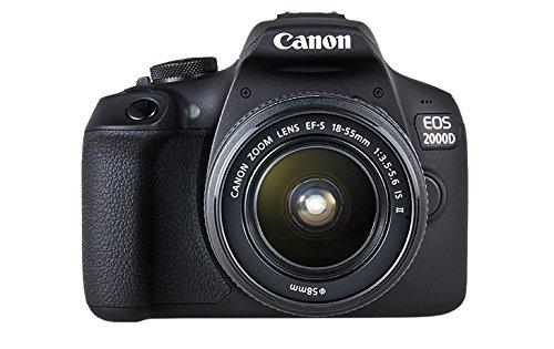 dslr wlan Canon EOS 2000D Spiegelreflexkamera mit dem Objektiv EF-S 18-55 IS II Kit