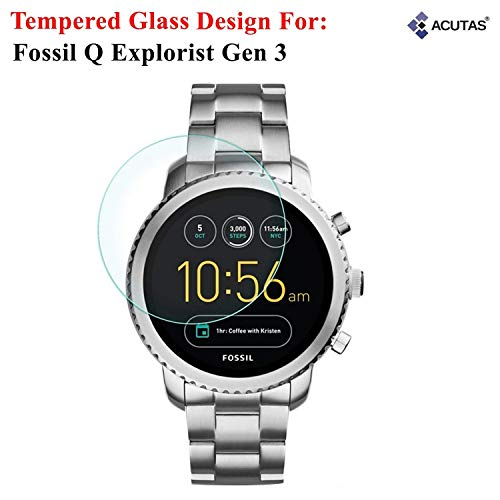 ACUTAS Round Edge Tempered Glass for Fossil Q Explorist (Transparent)