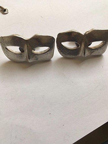 Damen Masquerade Maske Masquerade Ball Größe 2,5cm x 4,2cm tg233Paar Manschettenknöpfe aus feinem englischen Moderne Zinn geschrieben von uns Geschenke für alle 2016von Derbyshire UK