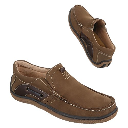 Ital-Design , mocassins homme Marron - Camel