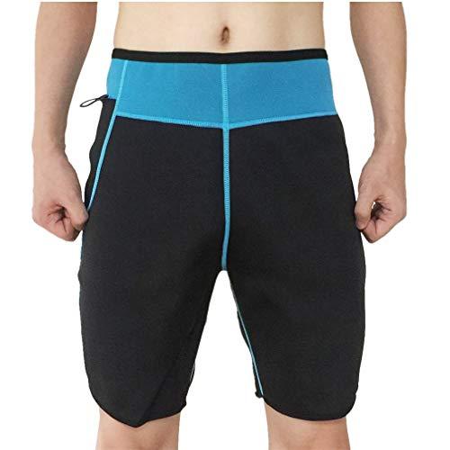 Novecasa canotta sauna uomo neoprene/pantaloncini sauna adatta pantaloni body shaper ginnastica per sudare, bruciare i grassi fitness yoga (2xl, pantaloncini suana)