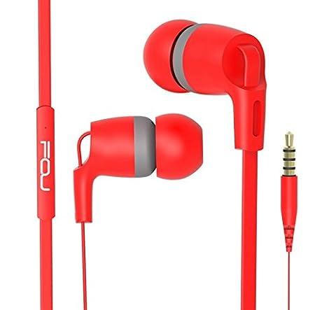 FOU In Ear Kopfhörer Bass Stereo Ohrhörer Headphones mit Mikrofon