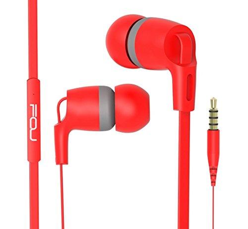 Preisvergleich Produktbild FOU In Ear Kopfhörer Bass Stereo Ohrhörer Headphones mit Mikrofon Hifi Noise Cancelling Headset Sport Kopfhoerer Leicht Earphones mit 3.5 mm Audioanschluss Freisprecheinrichtung Siri Sprachsteuerung Kompatibel mit iOS Android Windows System