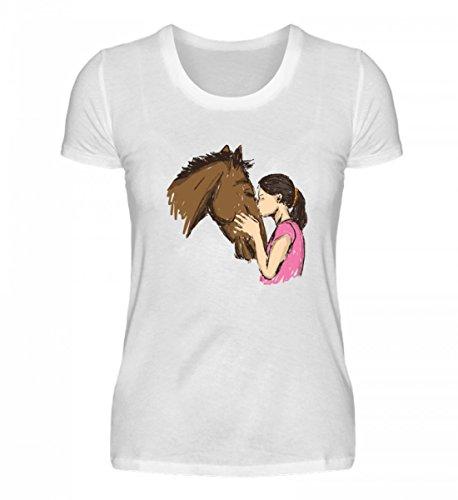 T-Shirt für Pferdefreundinnen - Pferd - Pferde - Pferdeliebhaberin Geschenk T Shirt - Damenshirt