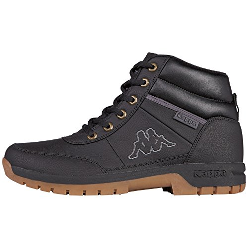 Kappa Bright Mid Light, Botines para Hombre, Negro (1111 Black), 44 EU