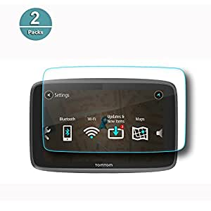 RUIYA Protecteur d'écran en verre trempé pour TomTom GO 620 6200 6250 Système de navigation GPS, film de protection invisible et transparent, résistant aux rayures[6 pouces](Deux morceaux)