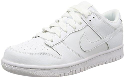 Nike Herren Dunk Low Gymnastikschuhe, Elfenbein (White/White/White), 44 EU (Skate Dunk Nike)